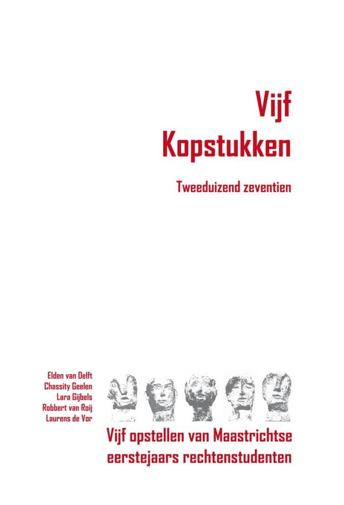 Uitgeverij Gianni: Vijf Kopstukken - Tweeduizend zeventien