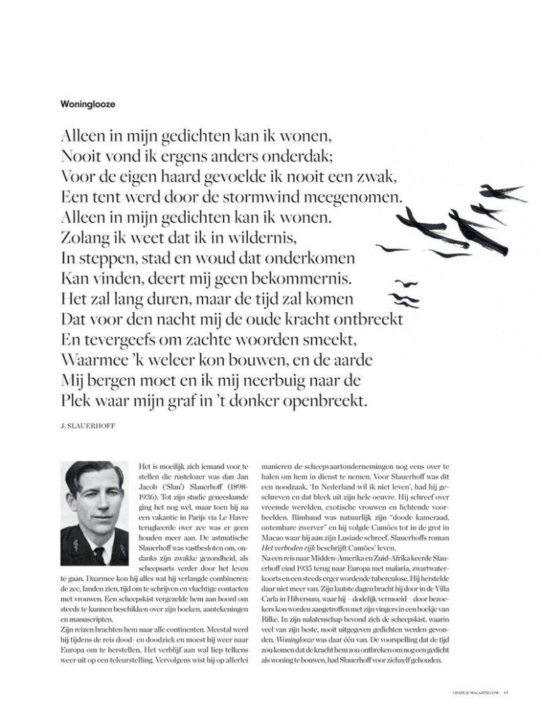 Uitgeverij Gianni - Vanzelfsprekend sonnetten - Chapeau Magazine 142