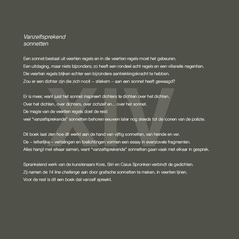 Uitgeverij Gianni - Vanzelfsprekend sonnetten (achterflap)